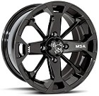 "MSA M17 Elixir ATV Wheels - 12"" Black"