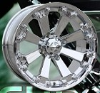 "MSA M20 Kore ATV Wheels - 14"" Chrome"