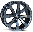 "MSA M22 Enduro Wheels - 15"" Dark-Tint Black"