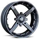 "MSA M23 Battle ATV Wheels - 12"" Flat Black"