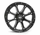 "STI HD4 ATV Wheels - 12"" Glossy Black Machined"