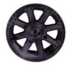"Vision 159 Outback ATV Wheels - 12"" Black"