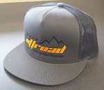 Pure Offroad Classic Flat Bill Hat, Charcoal