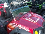 Half Windshield (Clear or Tinted) for Polaris RZR by Dot Weld
