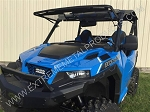 EMP Hard Coat Polycarbonate Flip Windshield for Polaris General 1000
