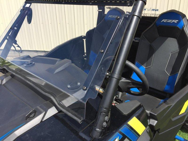 Polaris Rzr XP1000 /& 2015 RZR 900 Flip Down Hard Coat Windshield by EMP 12377