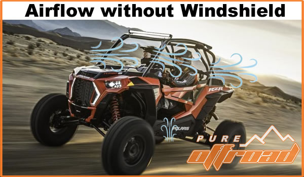 Polaris RZR with no windshield