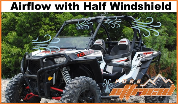 Polaris RZR with half windshield