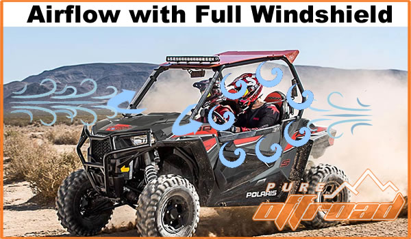 Polaris RZR with full windshield