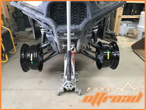 Narrow offset wheels for Polaris RZR