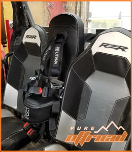 Harness install for bump seat