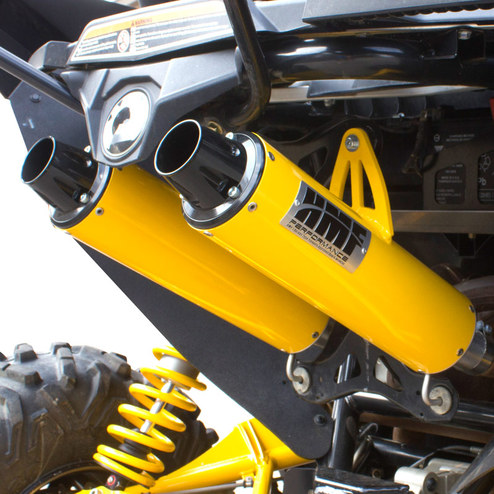 HMF Performance Series Dual Slip On Exhaust System for Can-Am Maverick