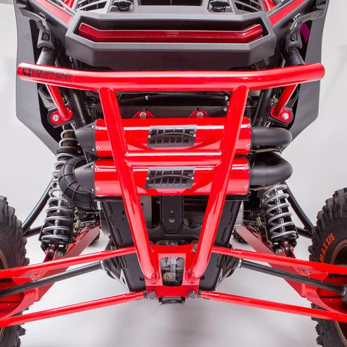 16-18 Polaris RZR900 HMF UTV IQ Defender Rear Bumper RED