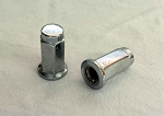 3/8x24 Flat Base Lug Nuts, Chrome