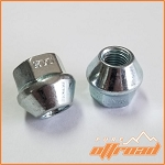 10x1.25 Tapered Open End Lug Nuts, 17mm Hex
