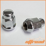 1/2 Inch x 20 Tapered Chrome Lug Nuts, 19mm Hex