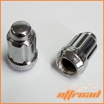 12x1.25 Beveled Spline Drive Lug Nuts, Chrome