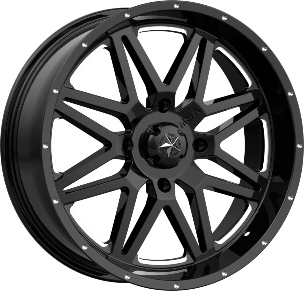 18 Inch Tires >> Msa M26 Vibe Wheels 18 Inch Glossy Black Milled With Optional Mounted Tires