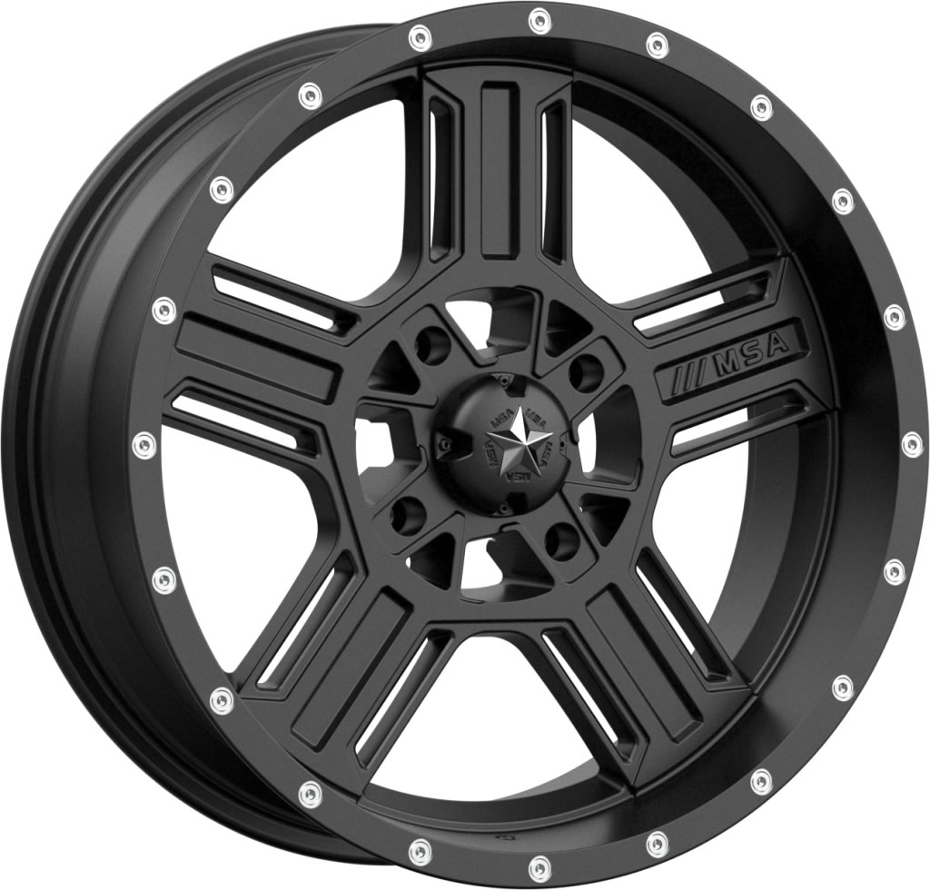 18 Inch Tires >> Msa M32 Axe Rims 18 Inch Satin Black With Optional Mounted Tires