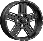 MSA M32 Axe Rims, 20 inch Satin Black (with optional mounted tires)