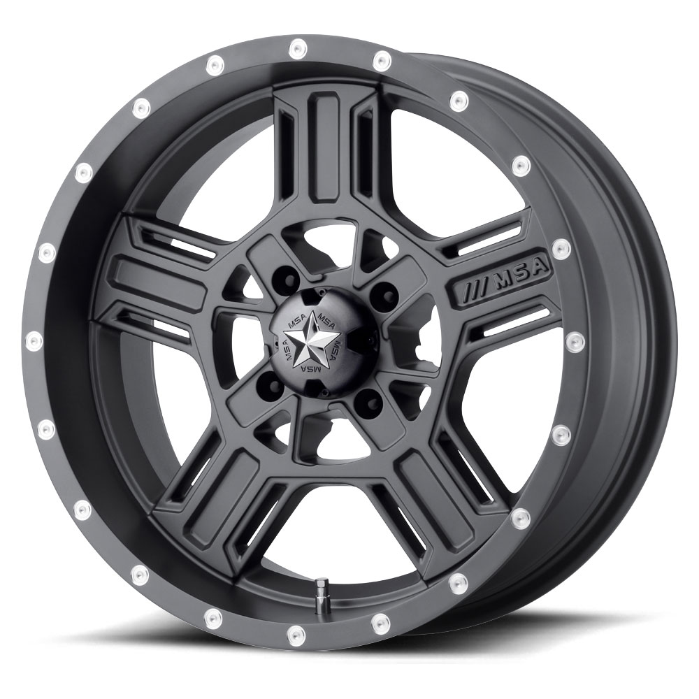 Motosport Alloys M32 Axe 18 Inch Wheels Matte Gray With Optional