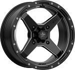 MSA M39 Cross Wheels, 16 Inch Satin Black Titanium Tint (with optional mounted tires)
