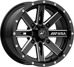 MSA M41 Boxer 14 Inch ATV / UTV Wheels, Glossy Black Milled