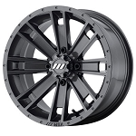 Motosport Alloys M28 Ambush Rims, 15 inch Graphite