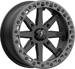MSA M31 Lok2 Beadlock Wheels, 16 Inch Satin Black w/ Matte Gray Ring (with optional mounted tires)