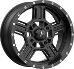MSA M32 Axe Rims, 16 inch Satin Black (with optional mounted tires)