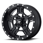 MSA M32 Axe Rims, 18 inch Satin Black (with optional mounted tires)
