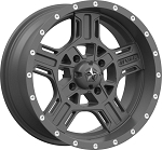 MSA M32 Axe Rims, 15 inch Matte Gray (with optional mounted tires)