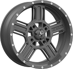 MSA M32 Axe Rims, 18 inch Matte Gray (with optional mounted tires)