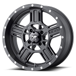 MSA M32 Axe Rims, 16 inch Matte Gray (with optional mounted tires)