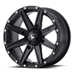 MSA M33 Clutch ATV Wheels, 16 Inch Black/Machined (with optional mounted tires)