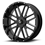 Motosport Alloys M35 Bandit 20 Inch Glossy Black Milled Wheels (with optional mounted tires)
