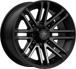 MSA M40 Rogue 14 Inch ATV Wheels, Satin Black w/ Titanium Tint