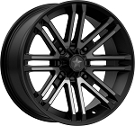 MSA M40 Rogue Wheels, 16 Inch Satin Black w/ Titanium Tint (with optional mounted tires)