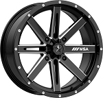 MSA M41 Boxer Wheels, 18 Inch Glossy Black Milled (with optional mounted tires)