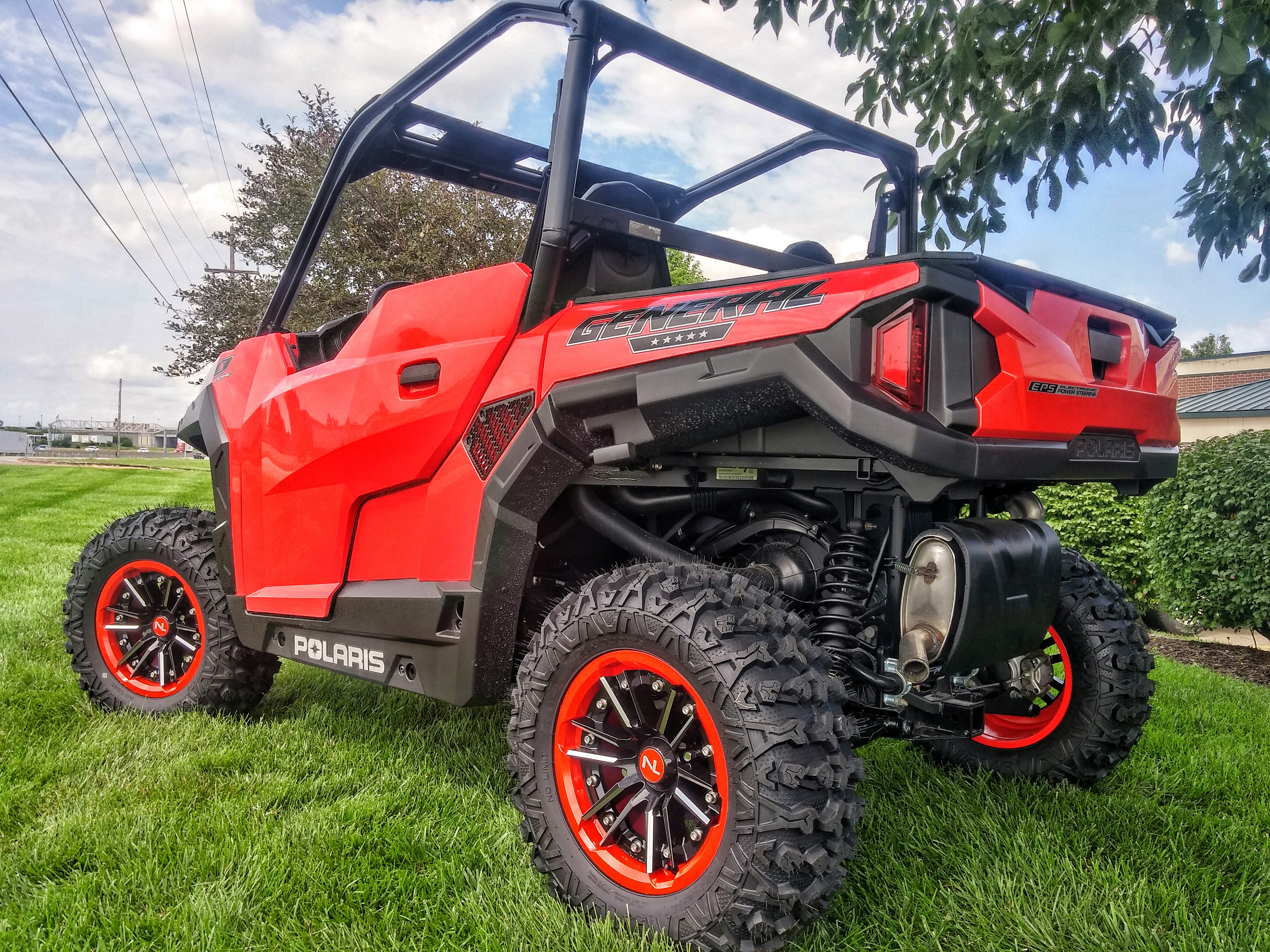 15 Inch No Limit Storm 2 Piece Atv Utv Wheels Red Matches Best With
