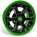 No Limit Deuce 14 Inch 2 Piece Lime Green Wheels