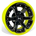 No Limit Deuce 14 Inch 2 Piece Lime Squeeze Wheels