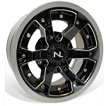 No Limit Deuce 14 Inch 2 Piece Silver Wheels