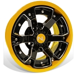 No Limit Deuce 14 Inch 2 Piece Yellow Wheels (Matches Can Am Yellow)