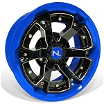 No Limit Deuce 15 Inch 2 Piece Blue Wheels, (matches Voodoo Blue & Velocity Blue)
