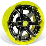 No Limit Deuce 15 Inch 2 Piece Lime Squeeze Wheels