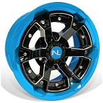 No Limit Deuce 15 Inch 2 Piece Octane Blue Wheels (matches Can Am)
