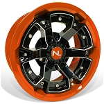 No Limit Deuce 15 Inch 2 Piece Orange Wheels