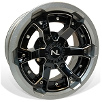 No Limit Deuce 15 Inch 2 Piece Silver Wheels