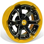 No Limit Deuce 15 Inch 2 Piece Yellow Wheels, (Matches Can Am Yellow)